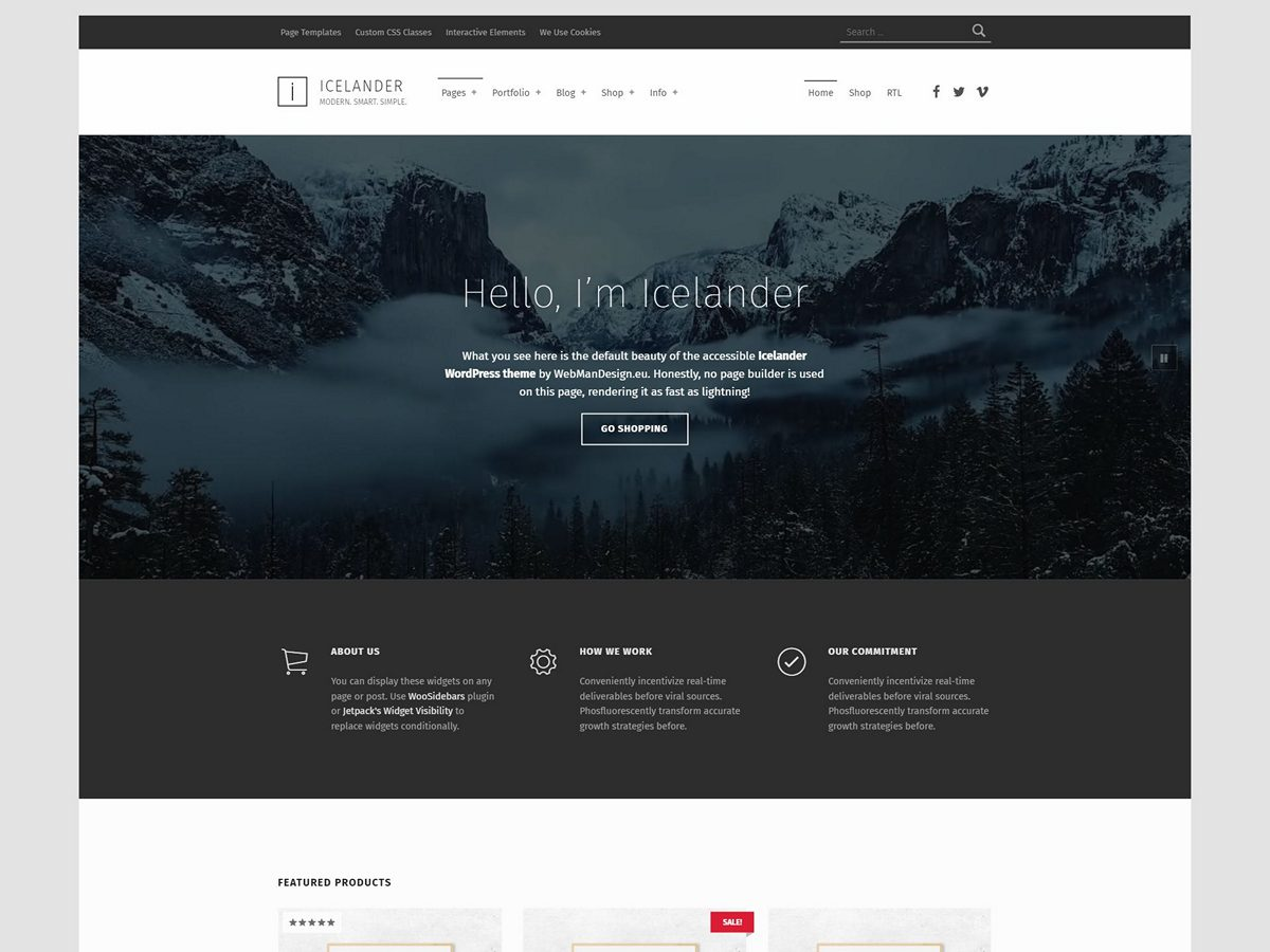 Icelander Theme Demo Website