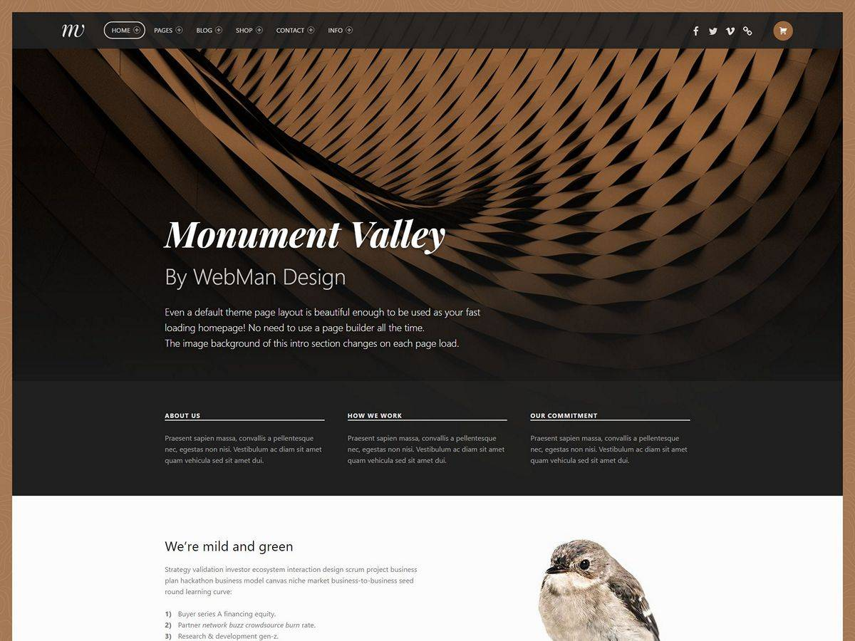 Monument Valley Theme Demo Website